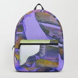 NAUTILUS CONCH SEA SHELL PURPLE IMPRESSIONS Backpack