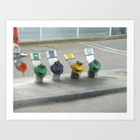 pocket fuel Art Prints featuring fuel colours by Martynb