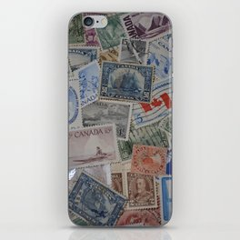 Canadian Pride Vintage Postage Stamp Collection From Canada iPhone Skin