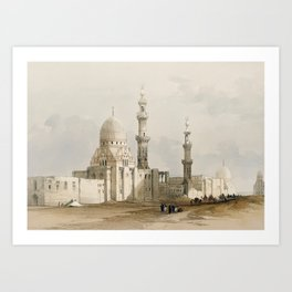 Tombs of The Caliphs, Egypt (1849) Art Print