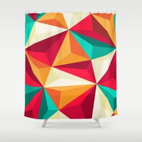 diamond Shower Curtains featuring Diamond by Azarias