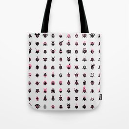 100 freaky friends family Tote Bag