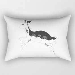 Fleur the fawn black and white  Rectangular Pillow