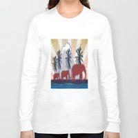 elephants Long Sleeve T-shirts featuring Elephants by LoRo  Art & Pictures