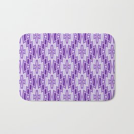 Diamond Pattern in Purple and Lavender Bath Mat