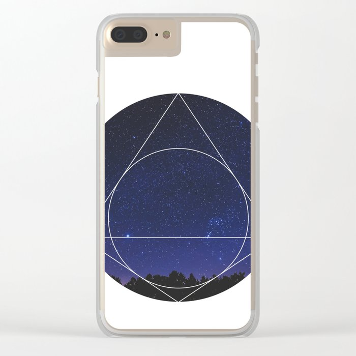 Magical Universe - Geometric Photographic Clear iPhone Case