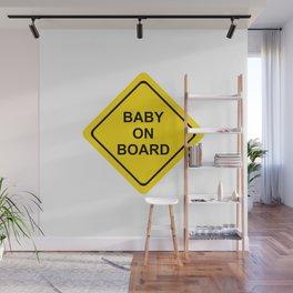 baby on board #society6 #decor #buyart #artprint Wall Mural