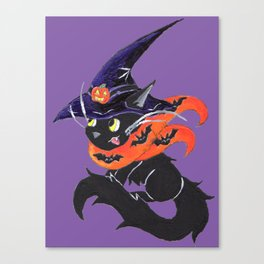Witch City Kitty Canvas Print