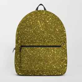 Classic Bright Sparkly Gold Glitter Backpack