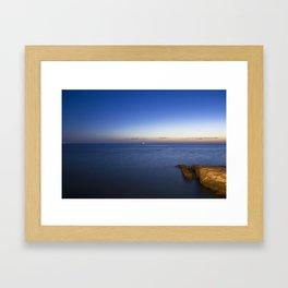 The sun is gone. Framed Art Print
