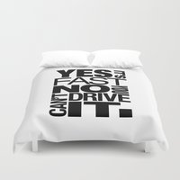 subaru Duvet Covers featuring Yes it's fast No you can't drive it v6 HQvector by Vehicle