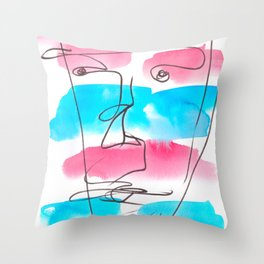 8 | One Line Drawing  | 190415 | Throw Pillow