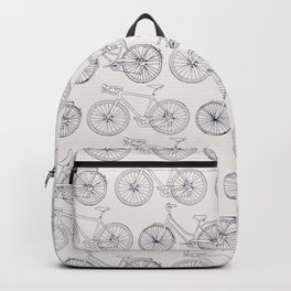 Bicycles pattern navy Backpack