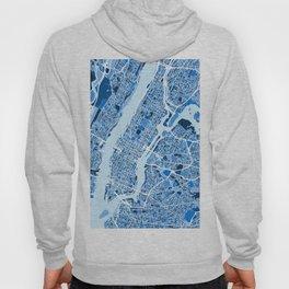 New York City Street Map Hoody