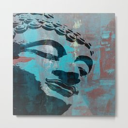 Art Deco Buddha Metal Print