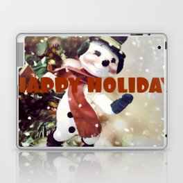 Snowman Season Happy Holidays Laptop & iPad Skin