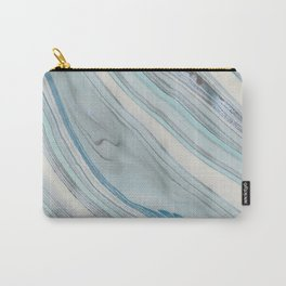 Soft Blue Aqua Marble Elegance Carry-All Pouch