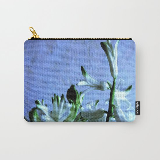white hyacinthe on light blue background Carry-All Pouch