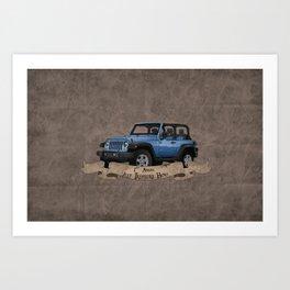 Jeep Treasure Hunt Art Print