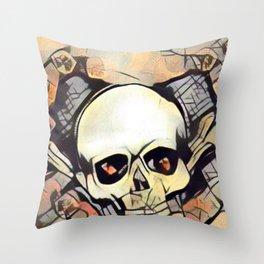 Love & death 2 Throw Pillow