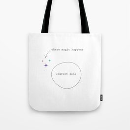 Get Out Of Your Comfort Zone Tote Bag