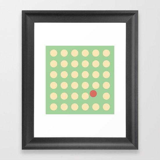 unanimity pattern Framed Art Print