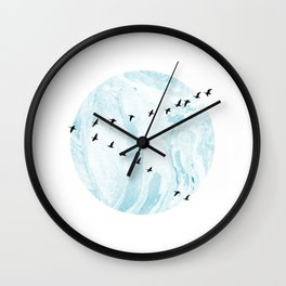 marble journey Wall Clock