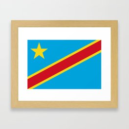 Flag of the Democratic Republic of the Congo Framed Art Print