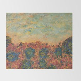 Flowers of Provence Throw Blanket