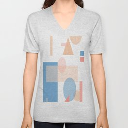 Mid Century Modern Abstract Shape Art Unisex V-Neck