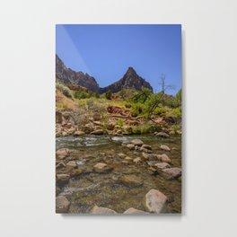 The Watchman & The Virgin 4756 - Zion National Park, Utah Metal Print