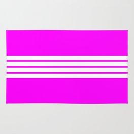 4 Stripes on Pink Rug