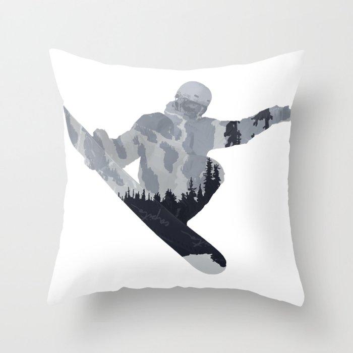 Snowboard Exposure SP | DopeyArt Throw Pillow