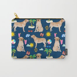 Yellow Lab labrador retriever dog breed beach summer vacation dog gifts Carry-All Pouch