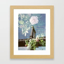 film double, manhattan bridge Framed Art Print