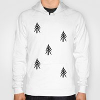 nordic Hoodies featuring nordic fir trees by tonadisseny