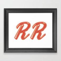 RR Diner Neon Framed Art Print
