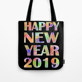 Happy New Year 2019 New Year's Eve Party Gift Tote Bag