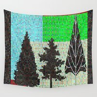 metropolis Wall Tapestries featuring Parkland in metropolis by anipani