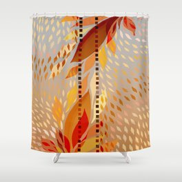 Rain of leaves Shower Curtain