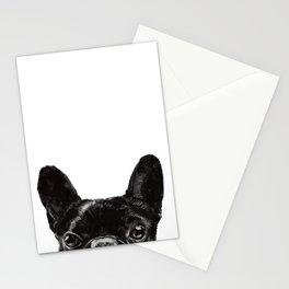 Peeking French Bulldog Stationery Cards