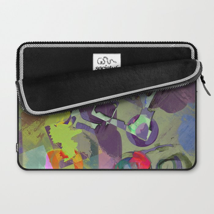Living In A Purple Dream - Abstract, eclectic, random, purple. lilac, pastel artwork Laptop Sleeve
