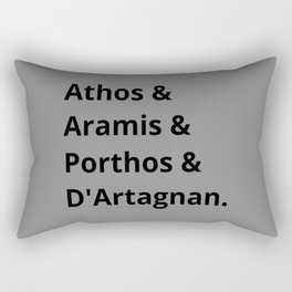 The Three Musketeers Names I Rectangular Pillow