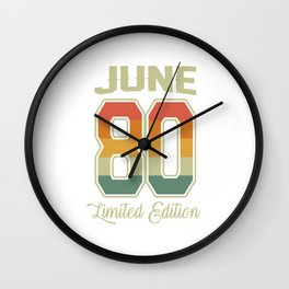 Vintage 40th Birthday June 1980 Sports Gift Wall Clock
