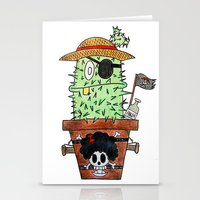 luffy Stationery Cards featuring Cactus Luffy by Vania Pietronigro