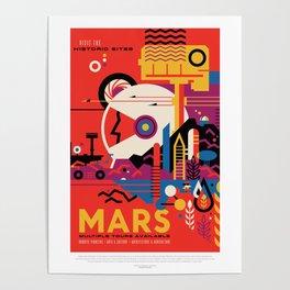 Retro Mars Vacation Ad from NASA Poster