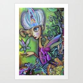 Faires meet Art Print