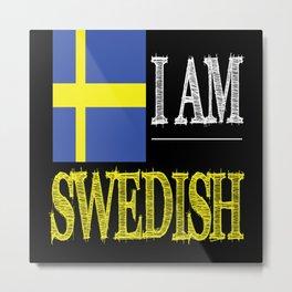 Sweden Sweden Flag Sweden Travel Guide Metal Print