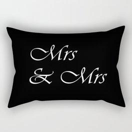 Mrs & Mrs Monogram Rectangular Pillow