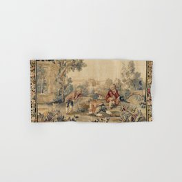 Aubusson  Antique French Tapestry Print Hand & Bath Towel
